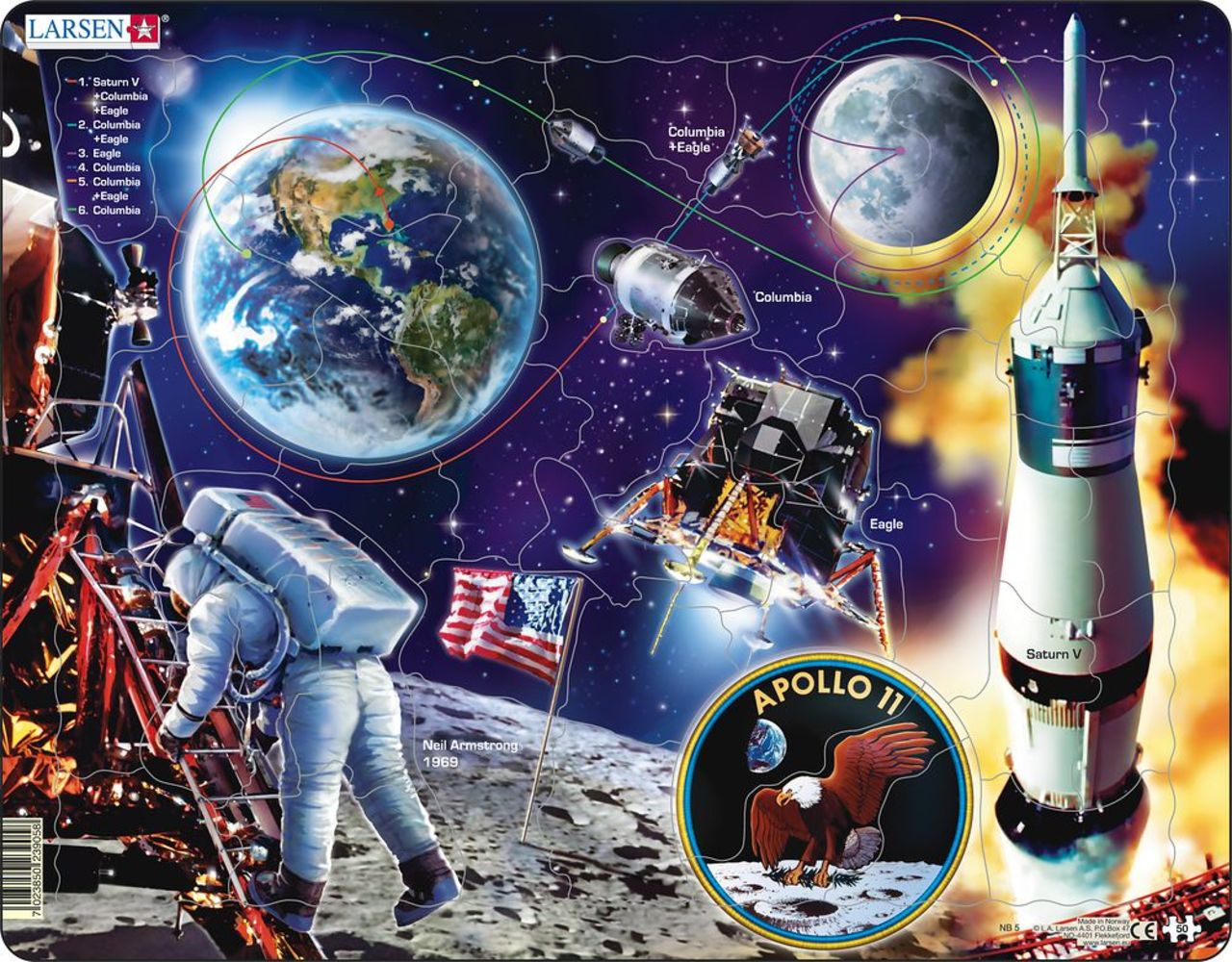 Apollo 11 Outer Space 50 Piece Children's Jigsaw Puzzle