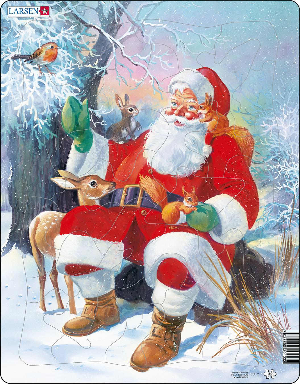 Santa with Animals 32 Piece Children's Jigsaw Puzzle