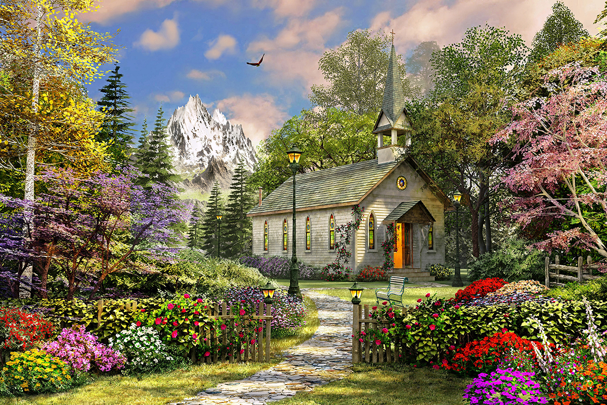 Mountain View Chapel 36 Piece Puzzle
