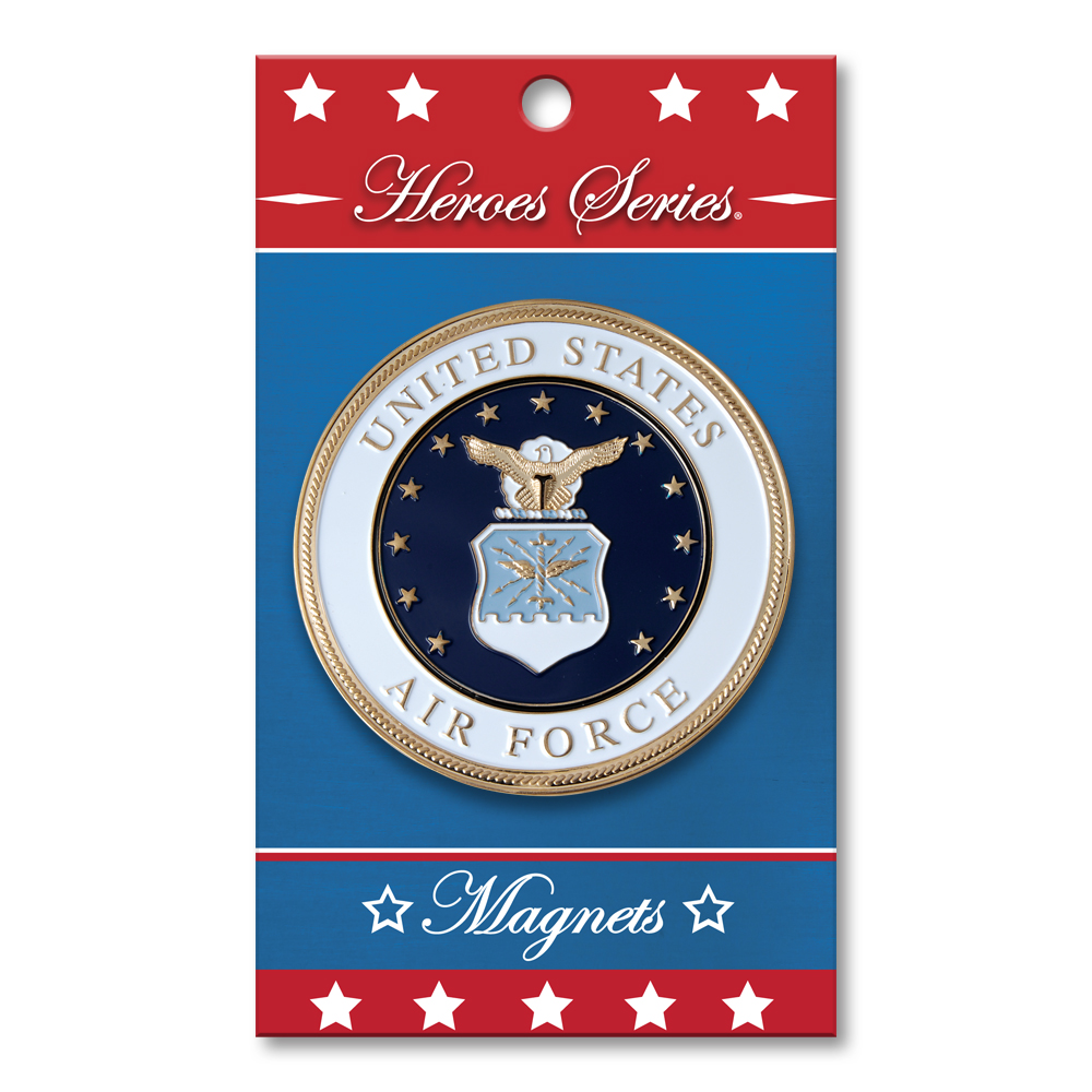 Heroes Series Air Force Medallion Small Magnet - 2.25 Inches