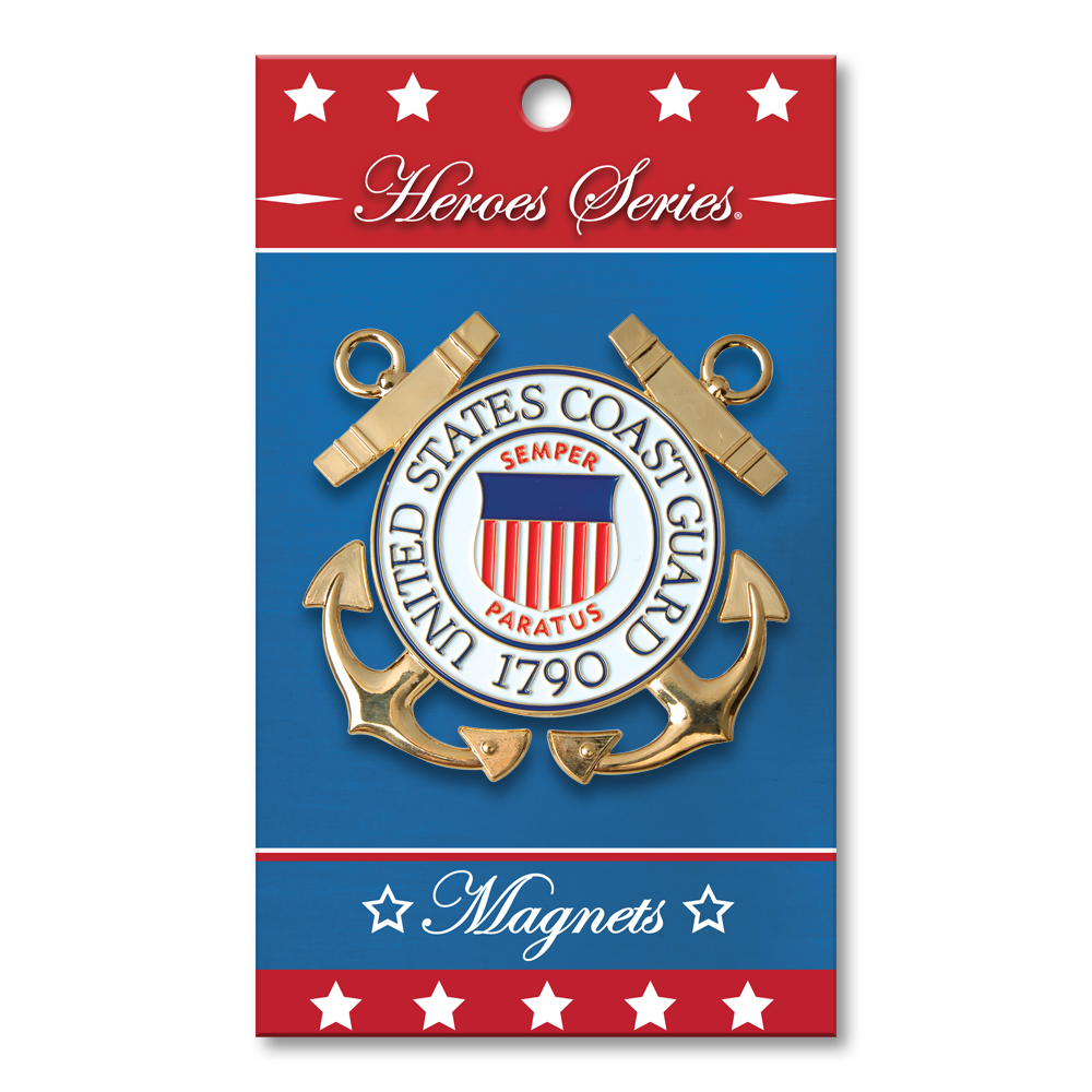 Heroes Series Coast Guard Medallion Small Magnet - 2.25 Inches