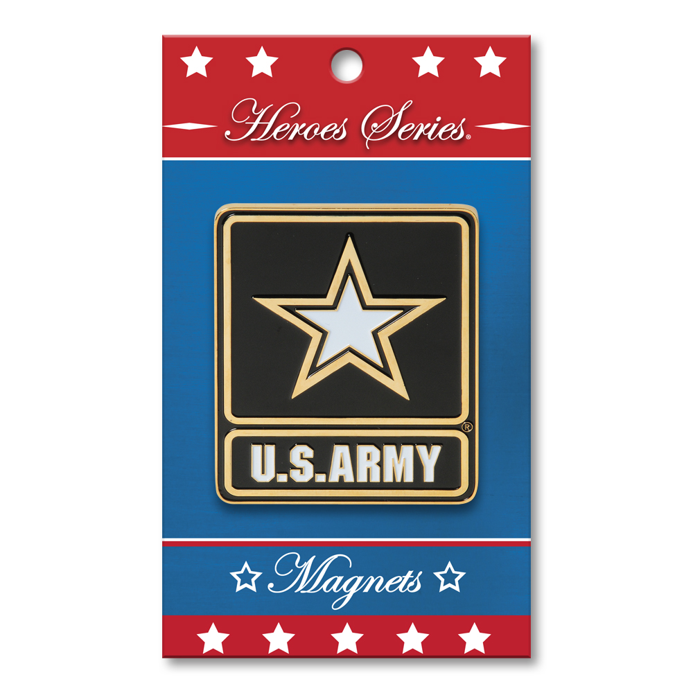 Heroes Series Go Army Medallion Small Magnet - 2.5 Diameter""