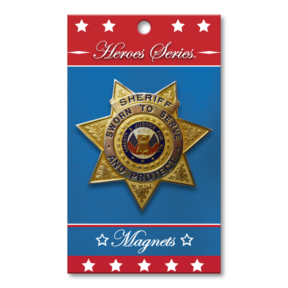 Heroes Series Sheriff Medallion Small Magnet - 2.25 Inches