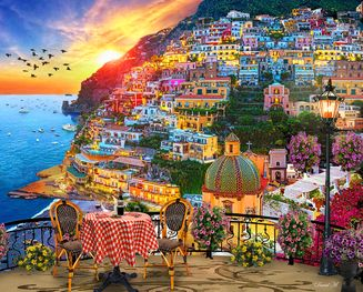 Positano Italy 1000 Piece Jigsaw Puzzle From Springbok Puzzles