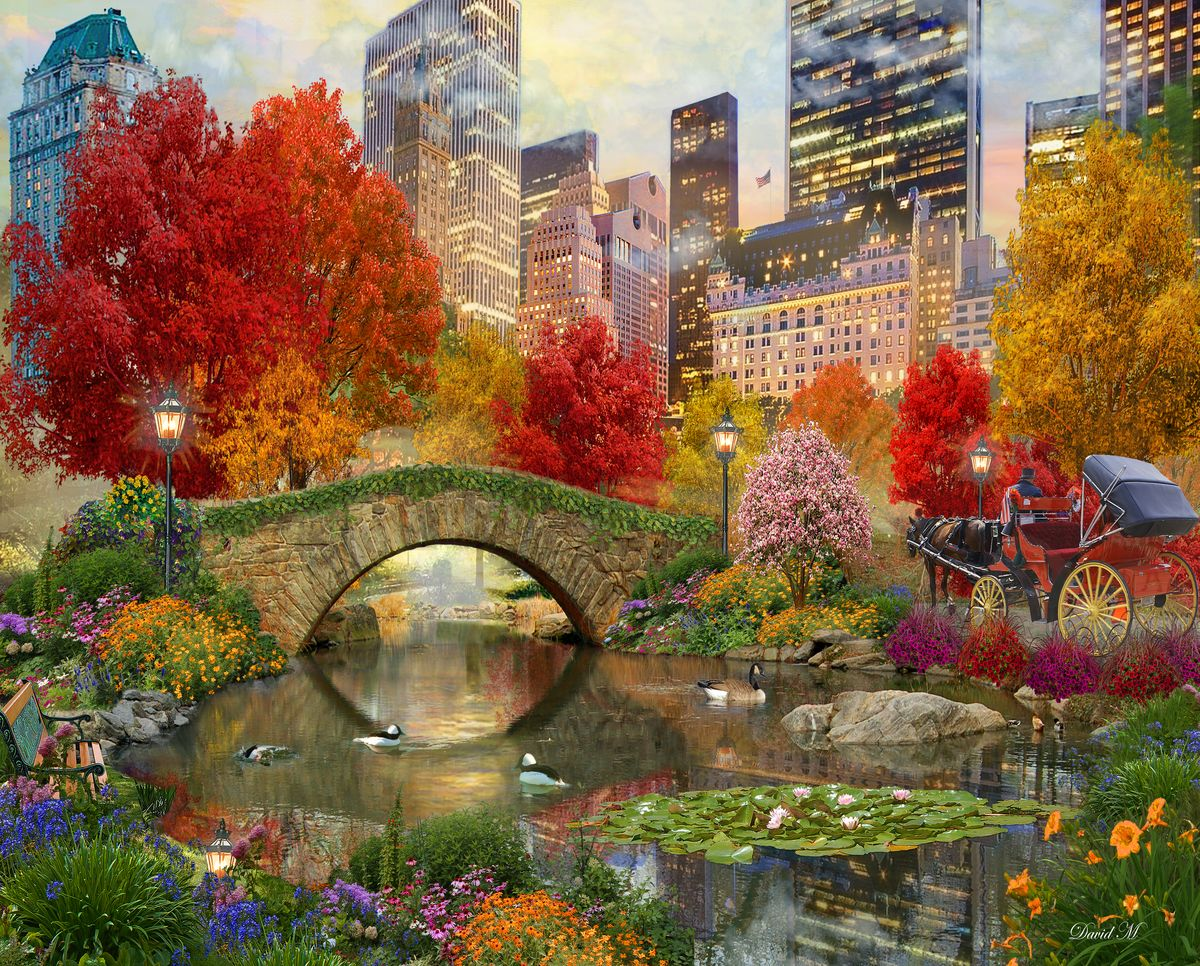 Central Park Paradise 500 Piece Jigsaw Puzzle From Springbok Puzzles