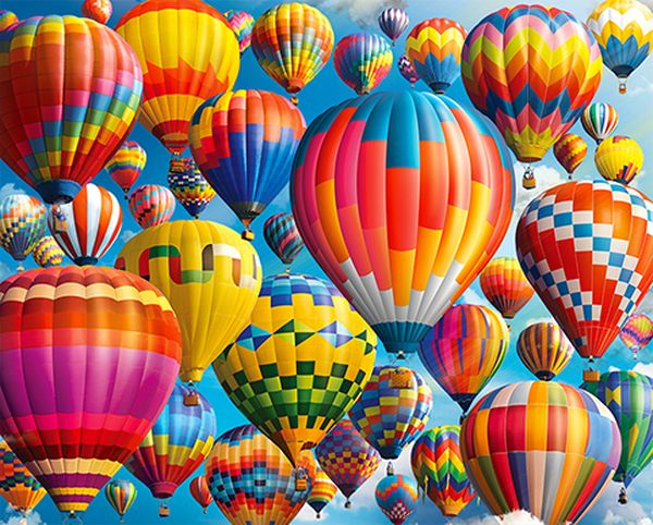 Balloon Fest 1000 Piece Jigsaw Puzzle From Springbok Puzzles