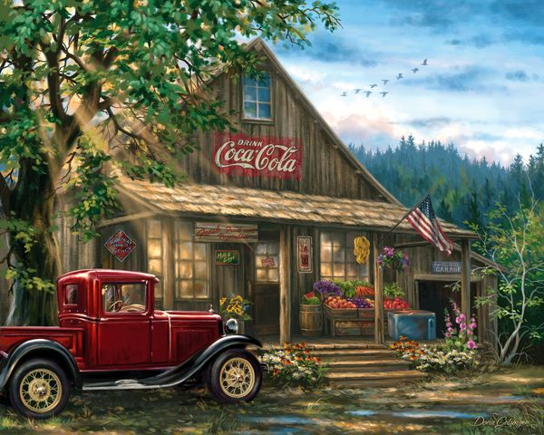 Country General Store 1000 Piece Jigsaw Puzzle From Springbok Puzzles