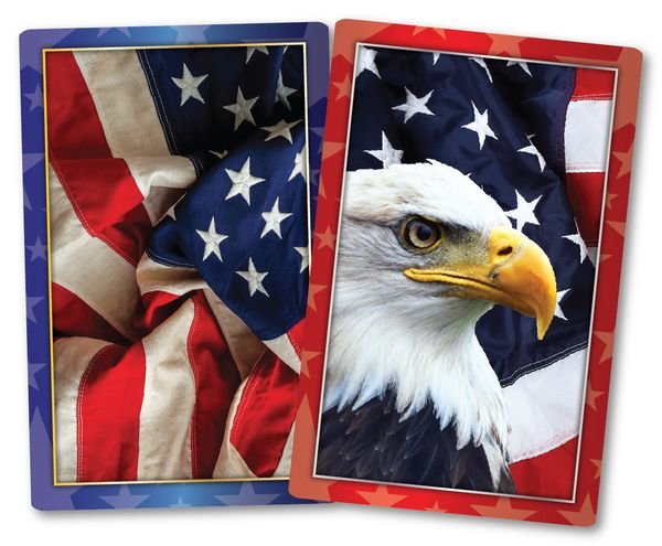 American Pride Jumbo Print Index Playing Cards