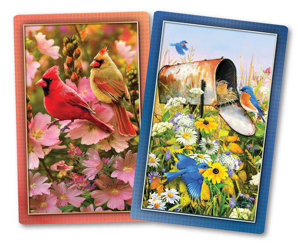 Floral Friends Jumbo Print Index Playing Cards