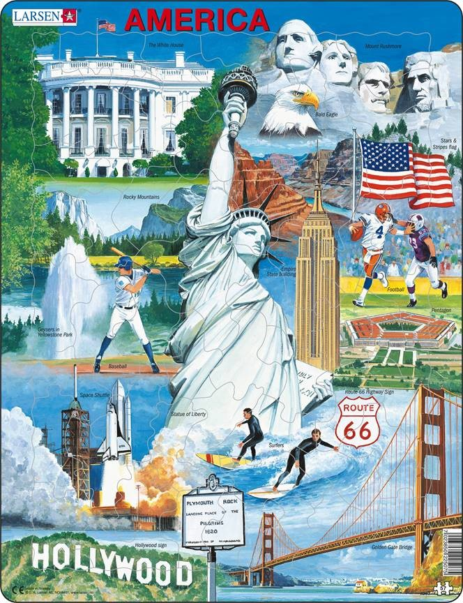 USA Souvenir 57 Piece Children's Jigsaw Puzzle