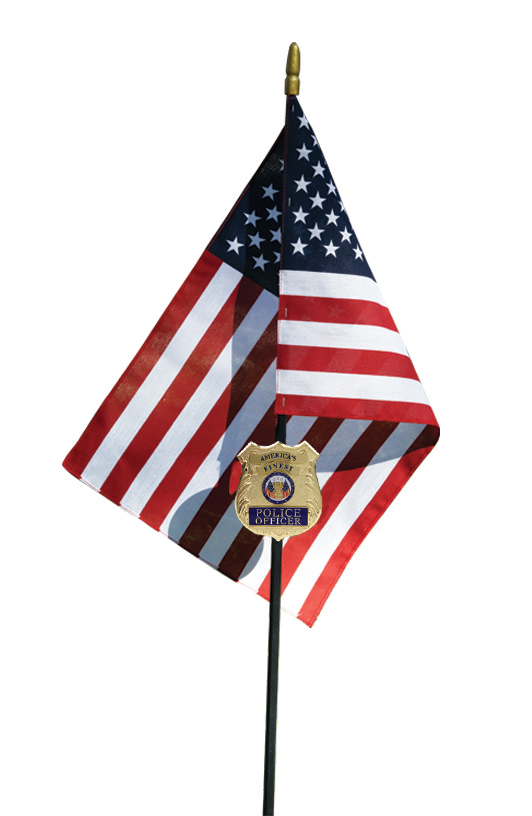 Police Officer Veteran Memorial Grave Marker