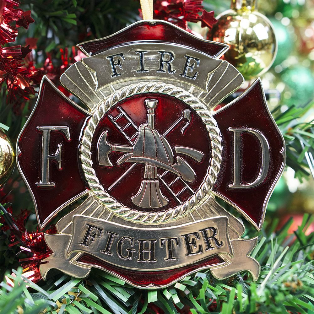 Firefighter Christmas Ornament | Heroes Series
