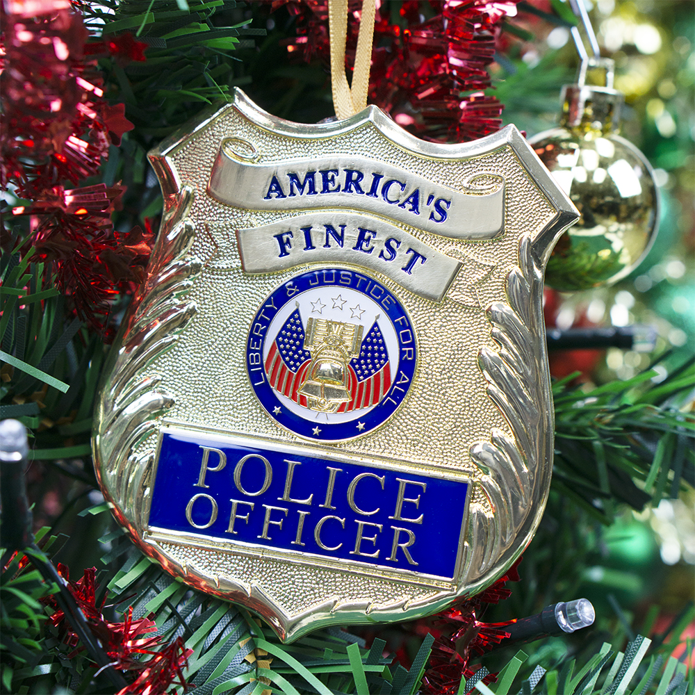 Police Christmas Ornament | Heroes Series