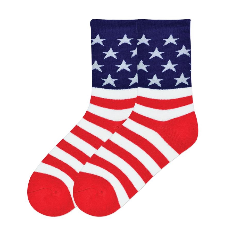 Women's American Flag Socks - Cotton Blend