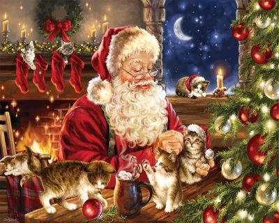 Christmas Kittens 1000 Piece Jigsaw Puzzle