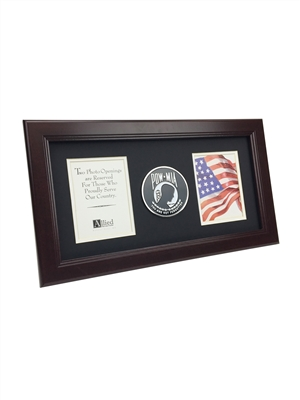 POW MIA Medallion 8-Inch by 16-Inch Vertical Frame