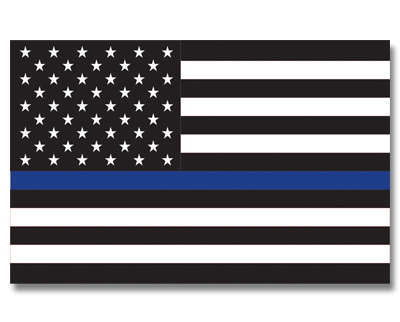 US Thin Blue Line Flag - 3' x 5' - Sewn Nylon
