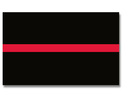 Thin Red Line Flag - 3' x 5' - Sewn Nylon