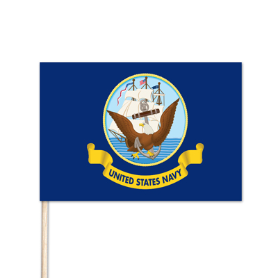 "U.S. Navy Stick Flag - 12"" x 18"" - E-Polyester - 144 Minimum Order"