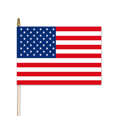 "U.S. Stick Flag w/ Spear - 8"" x 12"" - Endura-Gloss Cotton"