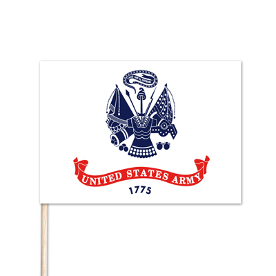 "U.S. Army Stick Flag - 12"" x 18"" - E-Polyester - 144 Minimum Order"