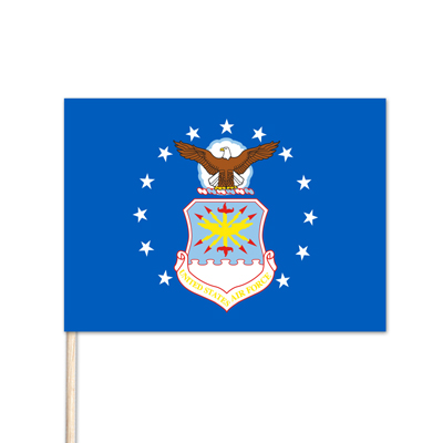 "U.S. Air Force Stick Flag - 12"" x 18"" - E-Polyester - 144 Minimum Order"