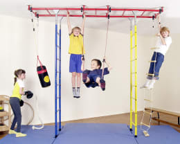 Die orginal KletterDschungel Brücke. Das großzügige Indoor-Klettergerüst aus Metall. Geeignet für Kinderzimmer und Kindergarten.