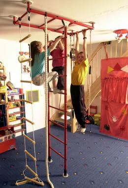 Das orginal KletterDschungel Grundgerüst, installiert in einem Kinderzimmer.