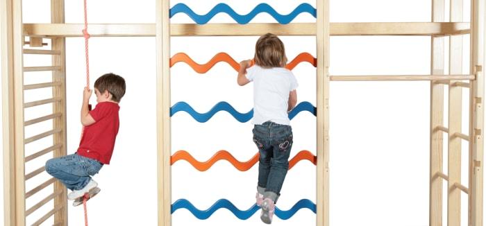 Indoor Sportgeräten für Kinder - Sprossenwand und KletterDschungel