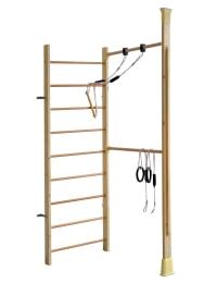 KletterDschungel Holz Sprossenwand Kombiset - Indoor Sportgerät
