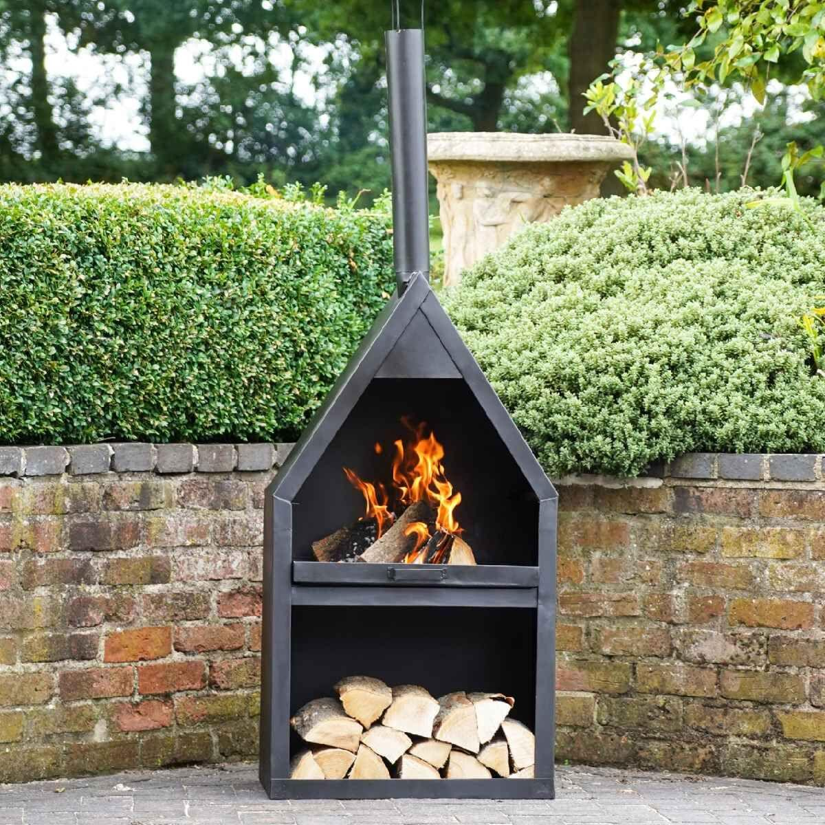 Ivyline Henley Fireplace with Grill