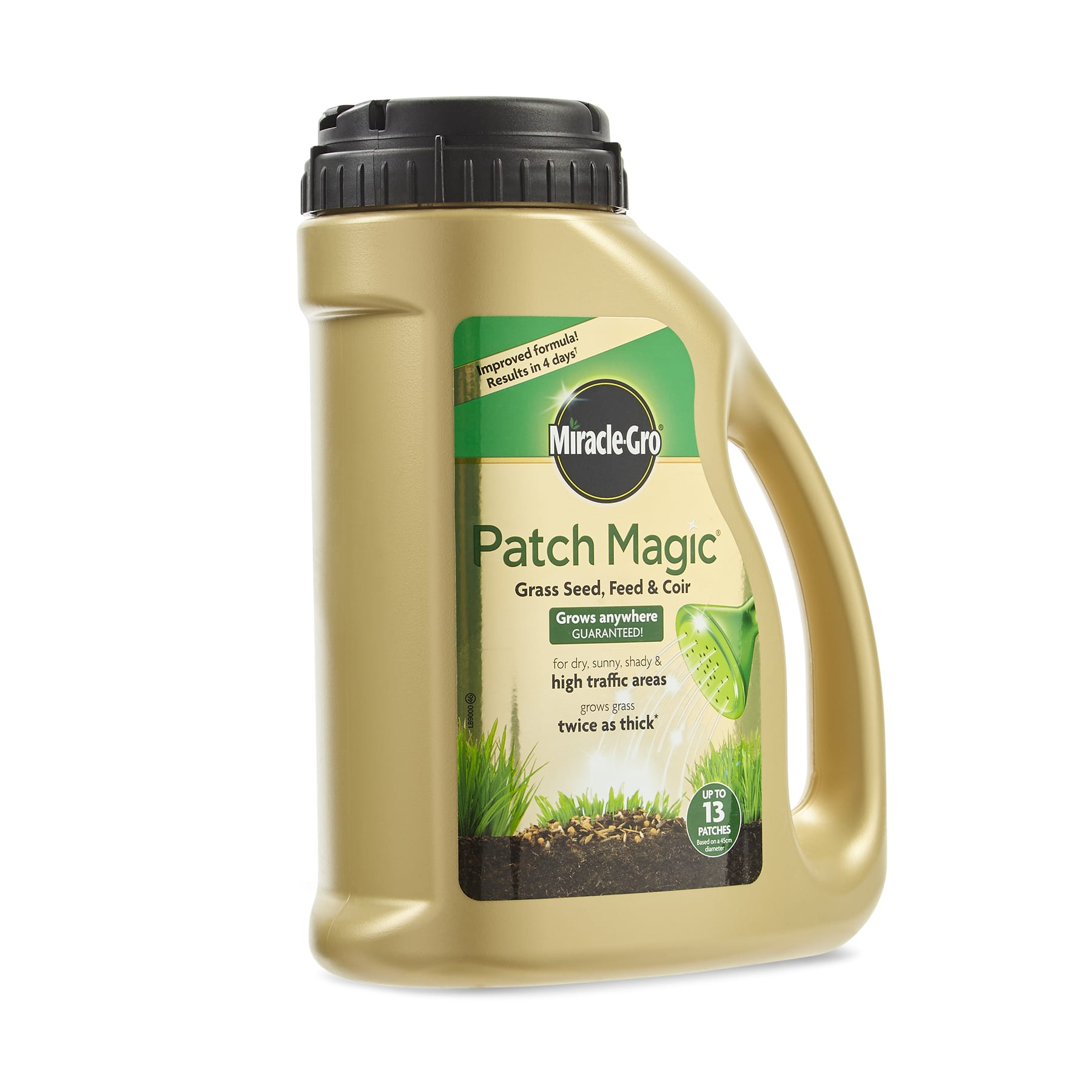 Patch Magic Grass seed, Feed and Coir Bottle