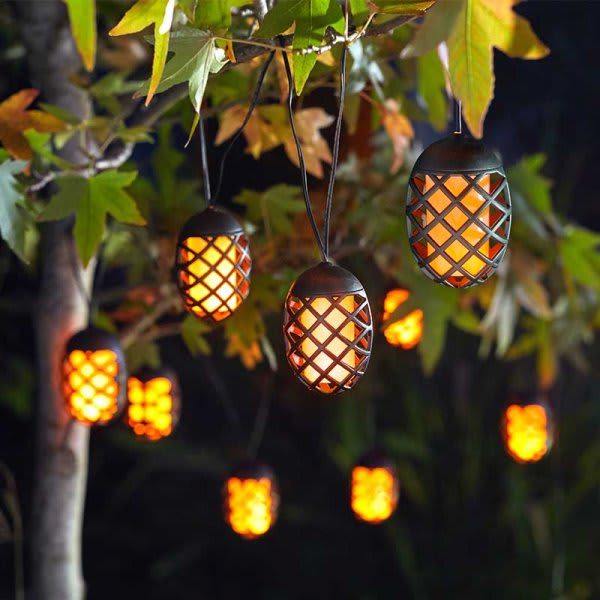 Cool Flame Solar String Lights