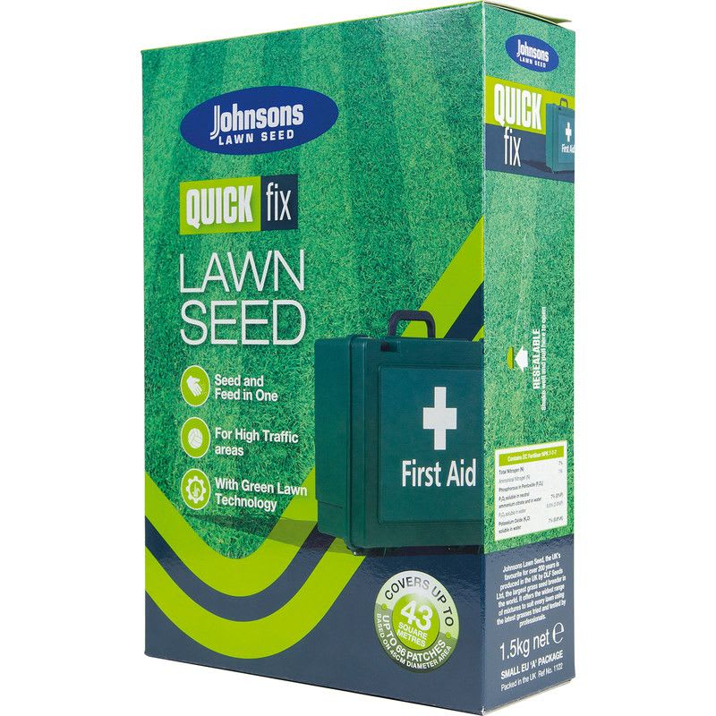 Lawn Seed Quick Fix With Growmore 1.5kg