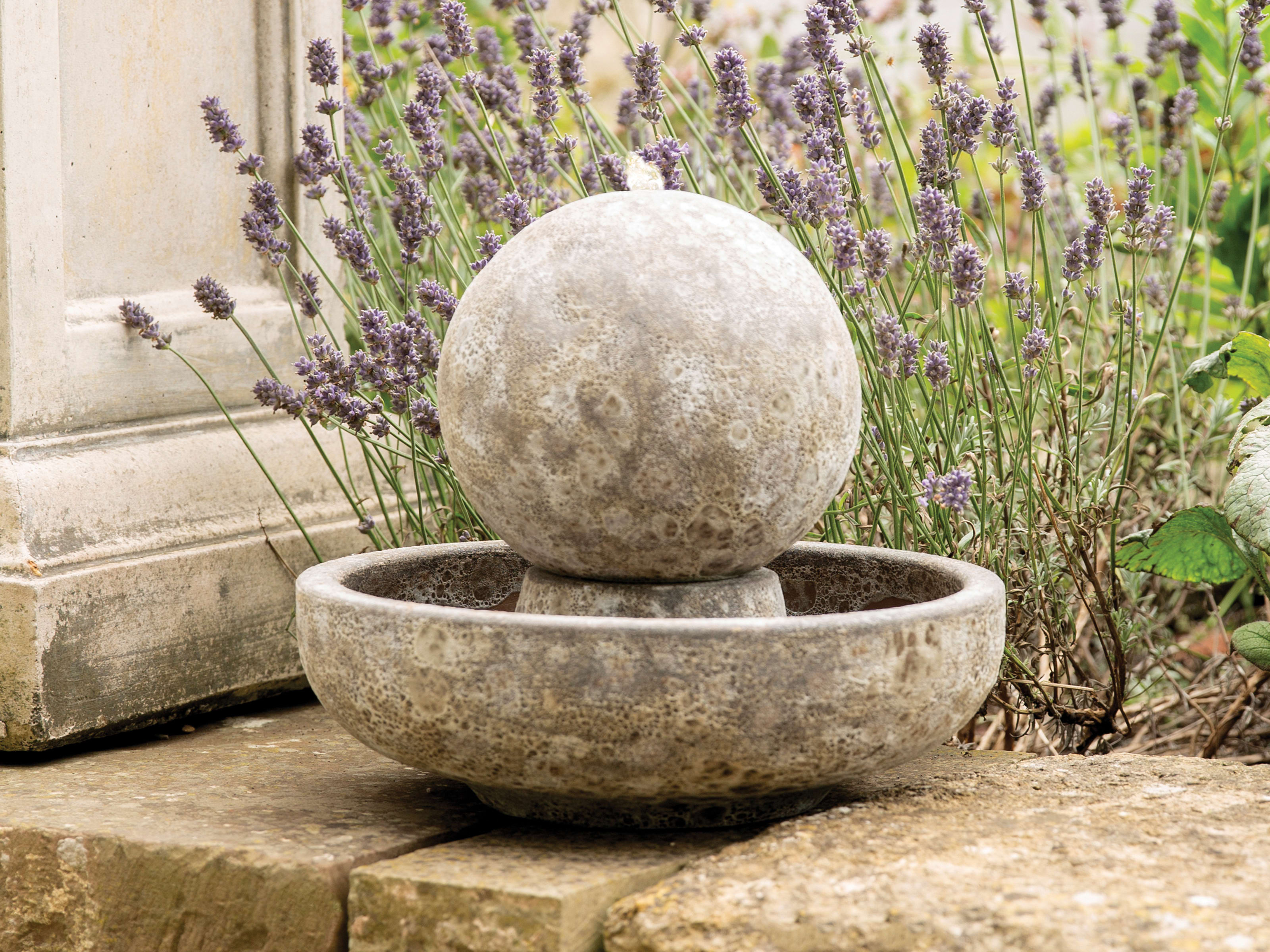 Small Ancient Ball Water Feature