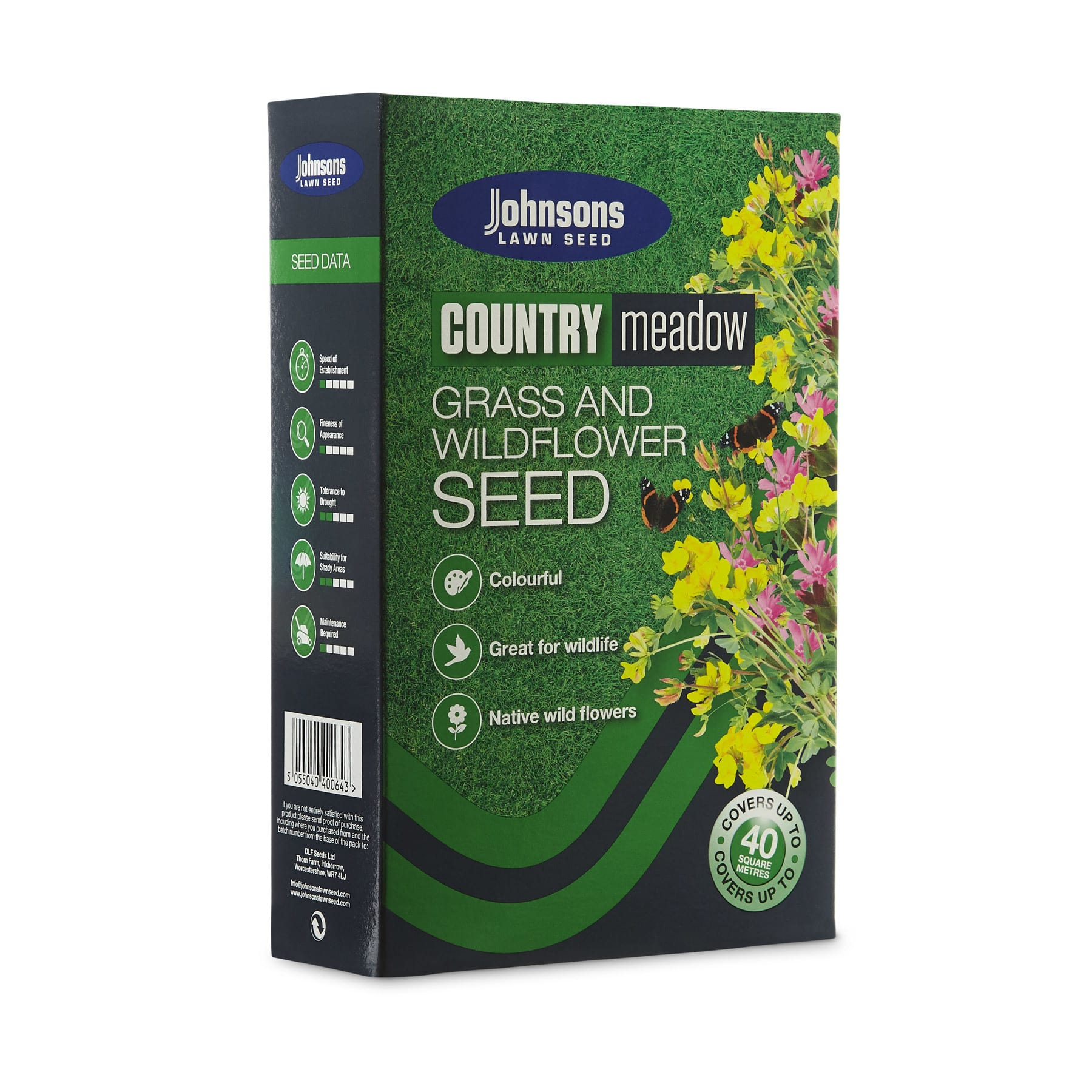 Johnsons Country Meadow Grass and Wildflower Seed