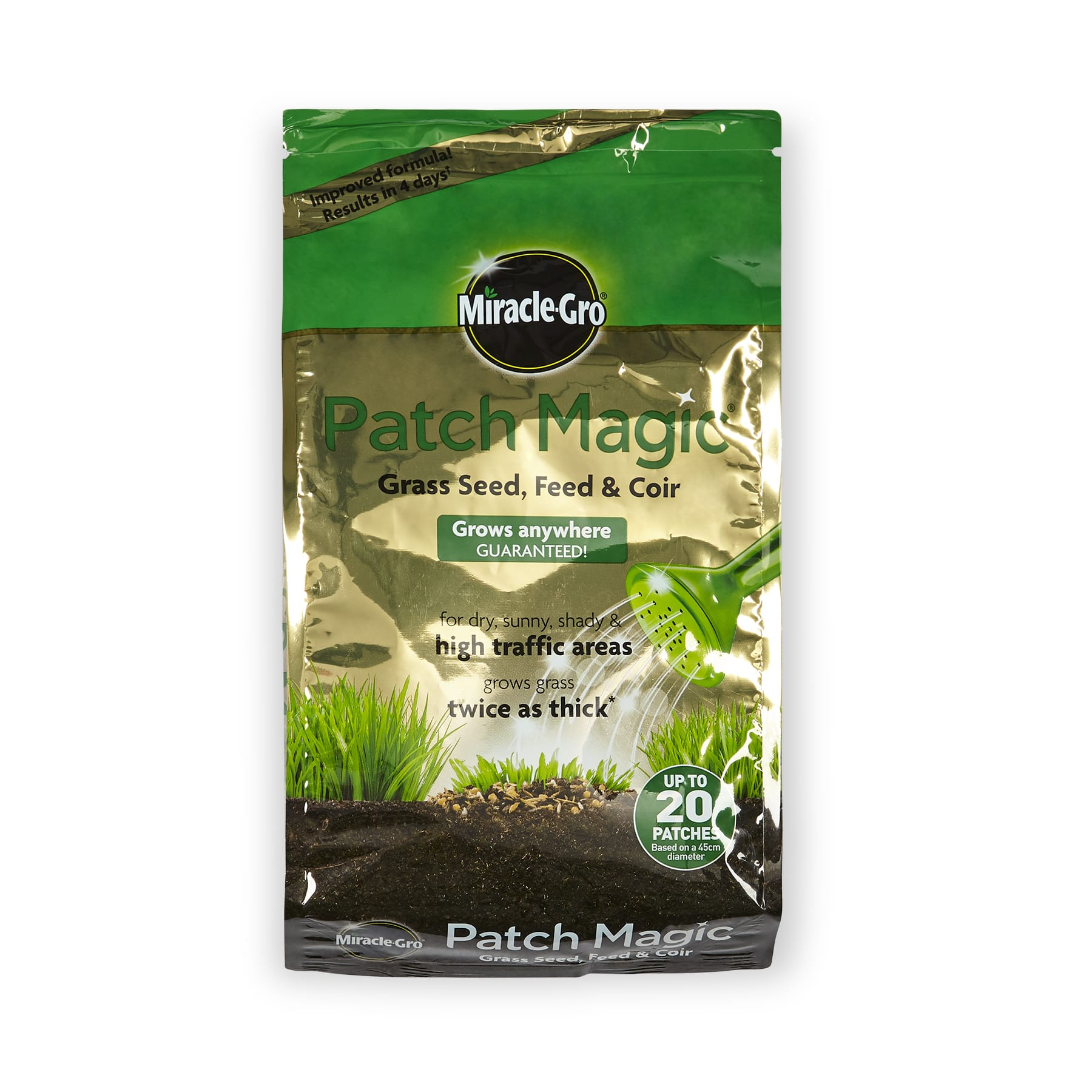 Miracle-Gro Patch Magic Grass Seed, Feed and Coir Bag