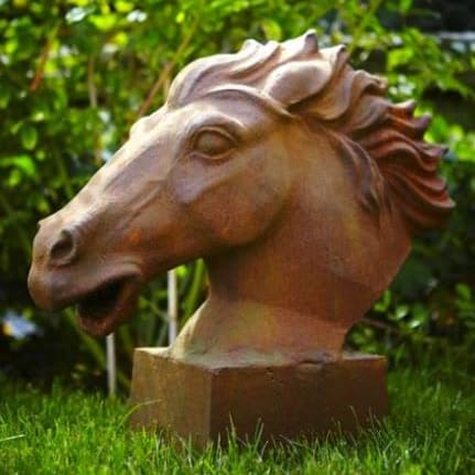 Galloping Horse Cast Iron Statue
