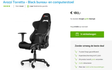 Sensational Torretta Gaming Chair V2 Bk Voor 180 Pabps2019 Chair Design Images Pabps2019Com