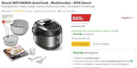 Gebruik de code  KRST17-5QFG-26LRD voor €5 korting   Klik hier voor €50  cashback via Bosch 3ae2e14a83