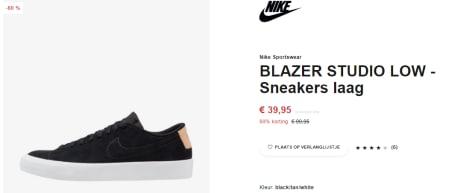 newest 21f8b 13eaf Nike Blazer Studio Low sneakers voor €39,95