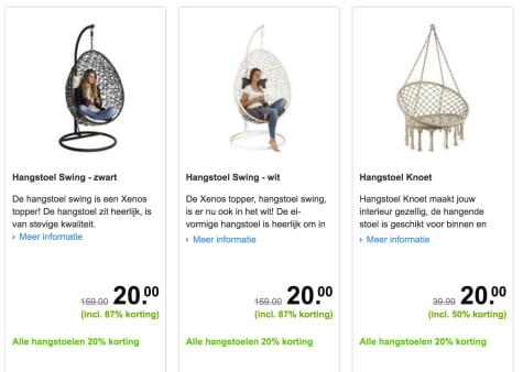 Xenos Hang Stoel.Foutje Alle Hangstoelen Voor 20 Euro