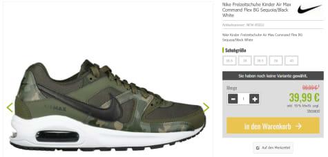 Nike Air Max Command Flex BG voor €39,95