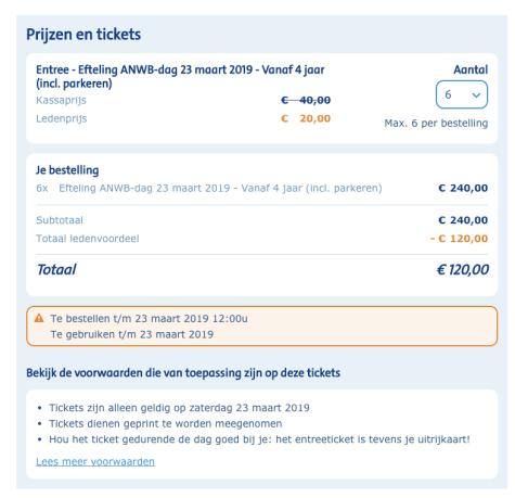 efteling + parkeren voor 20 euro ( 23,24 maart )