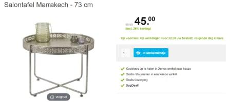 Salon Tafel Xenos.Salontafel Marrakech 73 Cm Voor 45