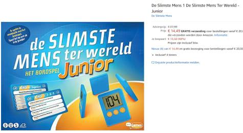 Just Games Bordspel De Slimste Mens Ter Wereld Junior Voor 14 49