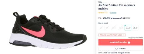 9b63d5154b7 Koop bij Wehkamp deze Nike Air Max Motion LW meisjes sneakers voor slechts  €27,96.