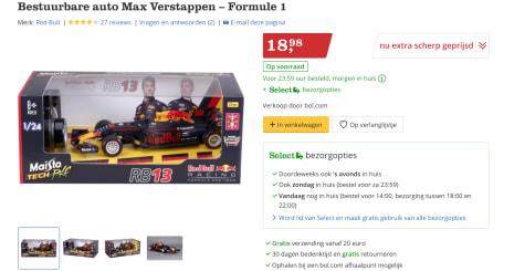 Bestuurbare Auto Max Verstappen Formule 1 Voor 18 98