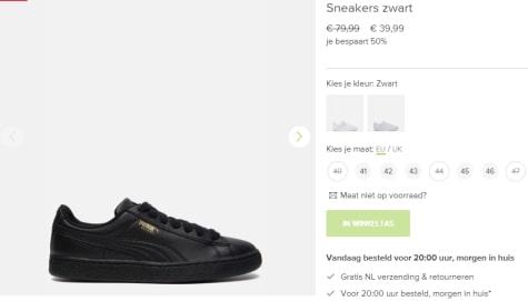 1b90f272979 Koop deze Puma Sneakers Basket classic LFS zwart voor maar €39,99 bij  Zalando.