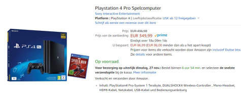 Sony Playstation 4 Pro 1 Tb Spider Man Bundel Voor 349